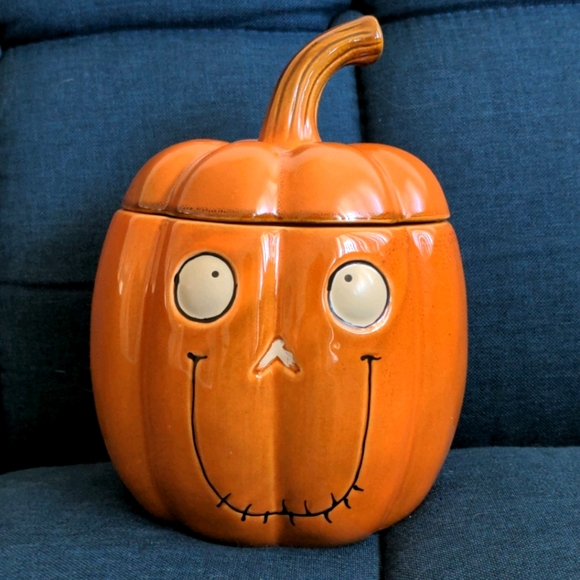 YCC Boney Bunch Pumpkin Candy Jar/Candle Holder